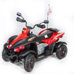 Электроквадроцикл Dongma ATV DMD-268B красный (колеса резина, многорычажная подвеска, музыка)