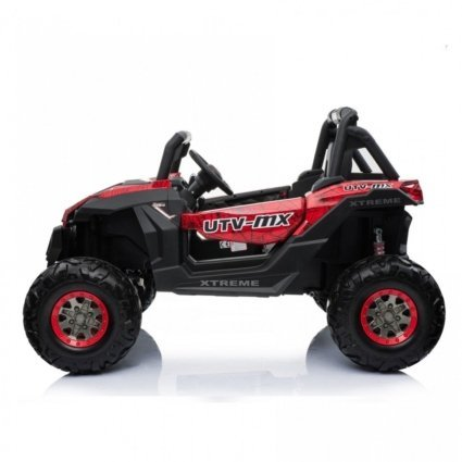 Электромобиль Buggy XMX603 Spider красный (2х местный, полный привод, колеса резина, кресло кожа, пульт, музыка)