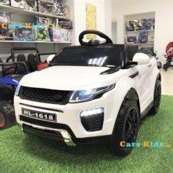 Электромобиль Land Rover Style 12V - HL-1618 белый (колеса резина, сиденье кожа, пульт, музыка)