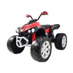 Электроквадроцикл FB-6677 2WD красный (кресло кожа, колеса резина, пульт, музыка)